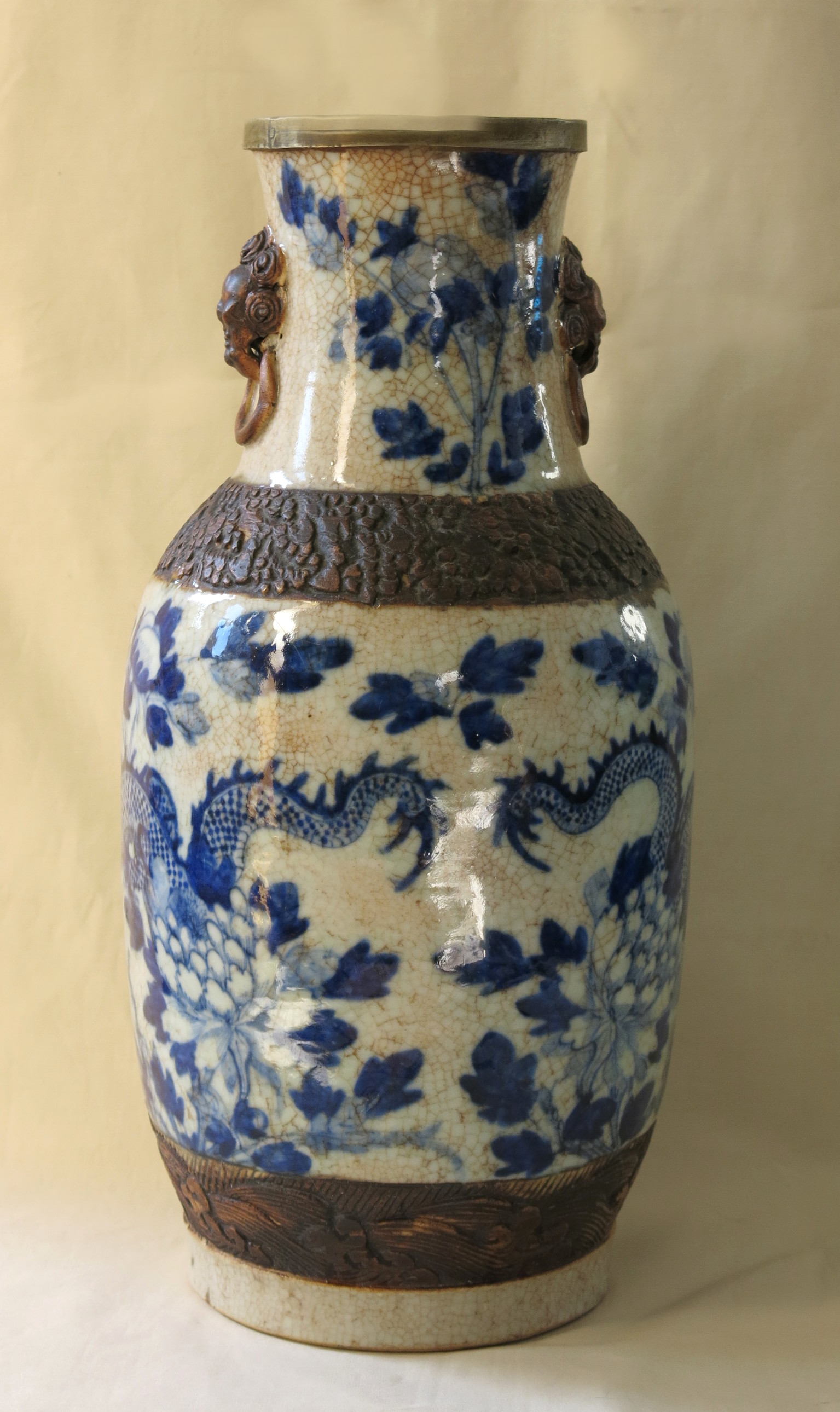 Vase En Porcelaine De Nankin Xixe Si 232 Cle Reflets Des Arts